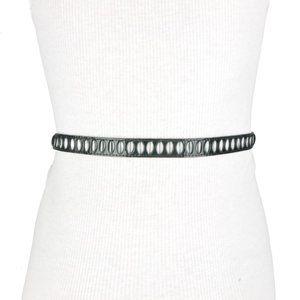 BCBG Black Studded Faux Leather Belt
